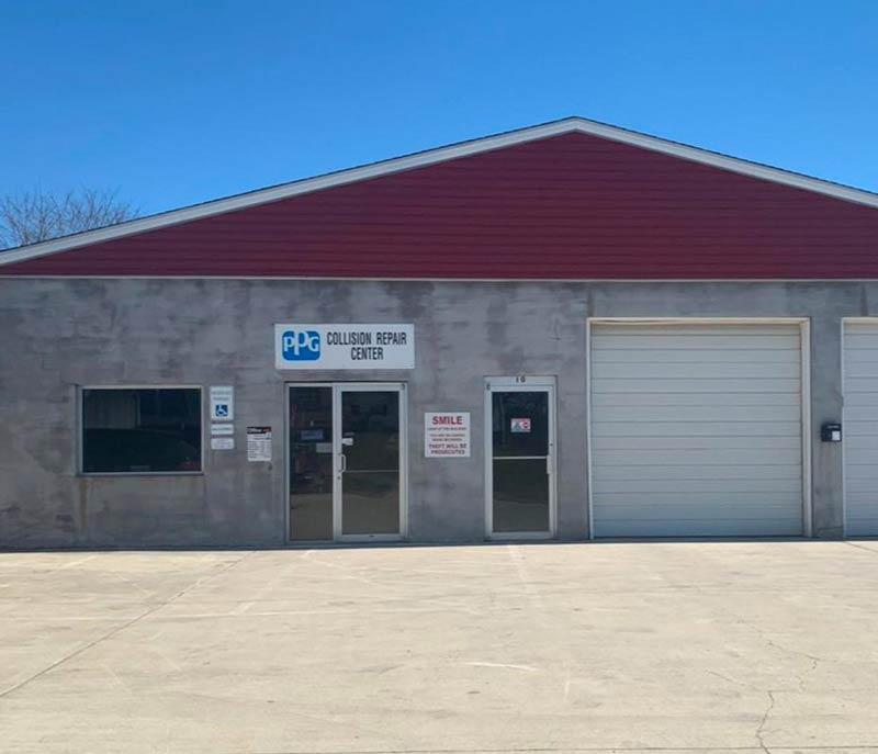 Exterior collision repair shop